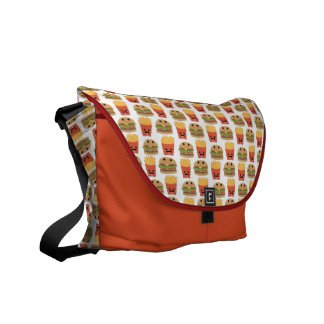 Happy Burger and Fries Messenger Bag
