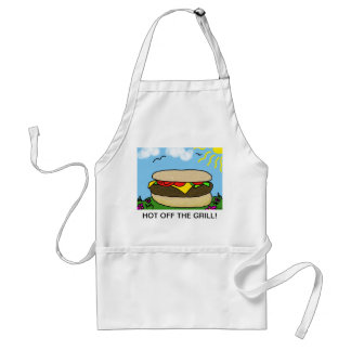 Happy Burger Day Apron Hot off the Grill