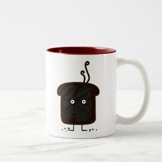 Happy Burnt Toast Two-Tone Coffee Mug