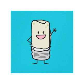 Happy Burrito Waiving Hello Canvas Print