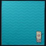 "Happy Burrito Waiving Hello Cloth Napkin<br><div class=""desc"">Happy Burrito waiving hello.</div>"