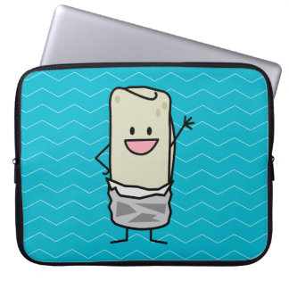 Happy Burrito Waiving Hello Laptop Sleeve