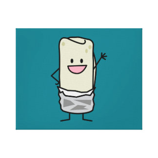Happy Burrito Waving Hello Canvas Print