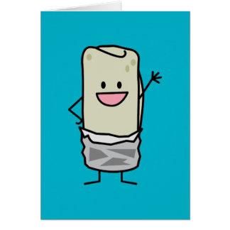 Happy Burrito Waving Hello Card