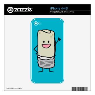 Happy Burrito Waving Hello iPhone 4S Skin