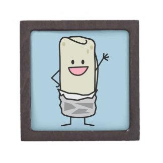 Happy Burrito Waving Hello Jewelry Box