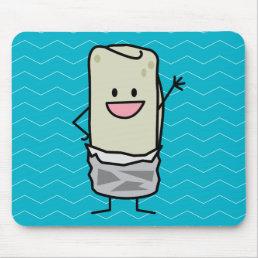 Happy Burrito Waving Hello Mouse Pad