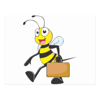 Happy Businessman Bee Post Cards
