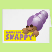 Happy but Snappy little hermit crab Card