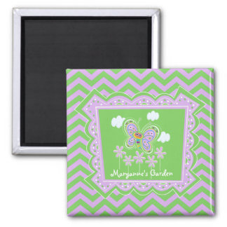 Happy Butterfly Garden Custom Magnet