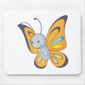 Happy Butterfly Mouse Pad