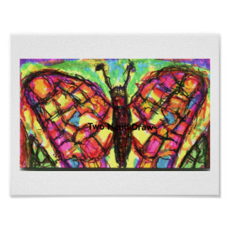 Happy Butterfly Poster