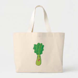 Happy Cabbage Vegetable Large Tote Bag