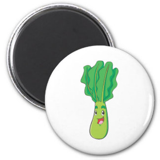 Happy Cabbage Vegetable 2 Inch Round Magnet