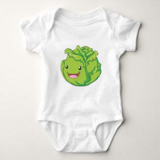 Happy Cabbage Vegetable Smiling Baby Bodysuit