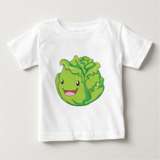 Happy Cabbage Vegetable Smiling Baby T-Shirt