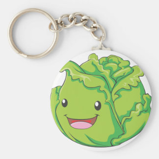 Happy Cabbage Vegetable Smiling Keychain