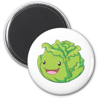 Happy Cabbage Vegetable Smiling Magnet