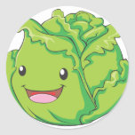 Happy Cabbage Vegetable Smiling Sticker