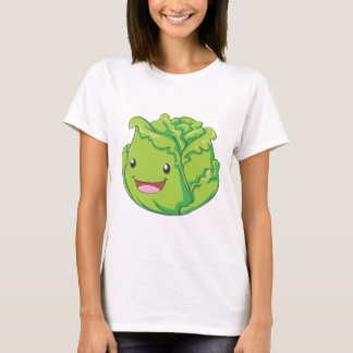 Happy Cabbage Vegetable Smiling T-Shirt