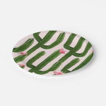 "Happy Cacti paper plate 7"""