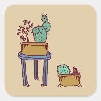 Happy Cactus stickers