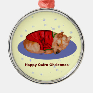 Happy Cairn Christmas Ornaments