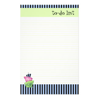 Happy Cake lined To-Do List Customized Stationery