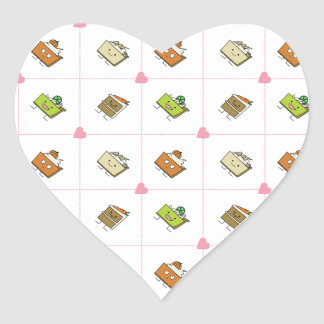 Happy Cakes and Pies Heart Sticker