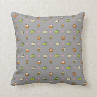 Happy cakes and pies throw pillow