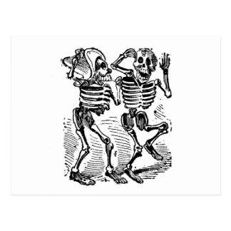 """""""Happy Calaveras"""" Mexico's Day of the Dead Postcard"""