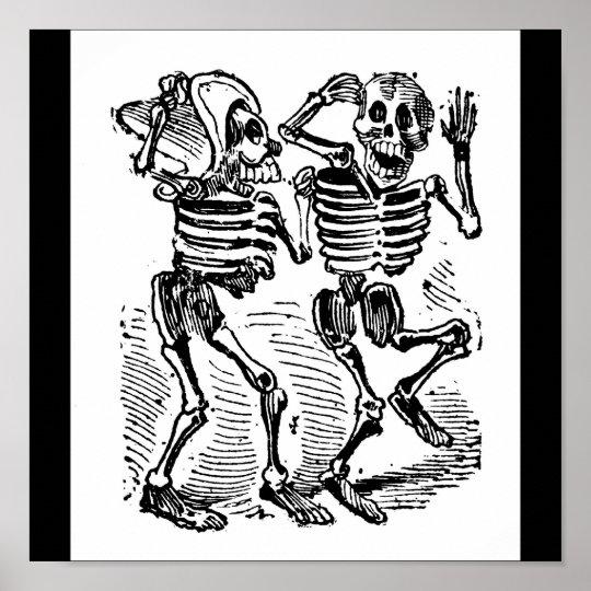 """Happy Calaveras"" Mexico's Day of the Dead Poster"