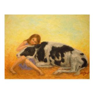 """""""Happy Calf"""" Postcard"""