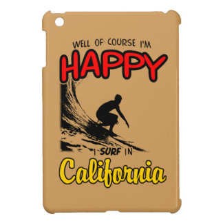 HAPPY CALIFORNIA SURFER 2 Black Cover For The iPad Mini
