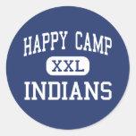 Happy Camp - Indians - High - Happy Camp Round Sticker
