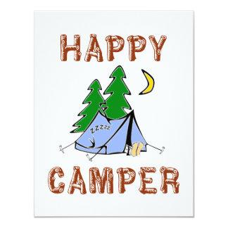 HAPPY CAMPER 4.25X5.5 PAPER INVITATION CARD