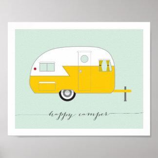 Happy Camper art print 8 x 10