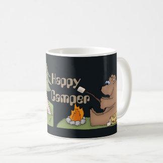 Happy Camper bears fun coffee mug