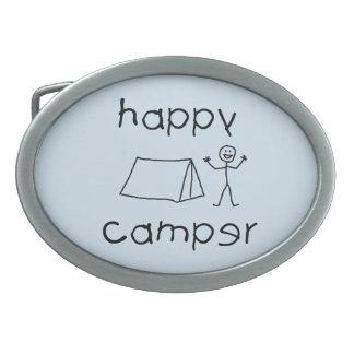 Happy Camper (blk) Belt Buckle