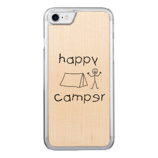 Happy Camper (blk) Carved iPhone 8/7 Case
