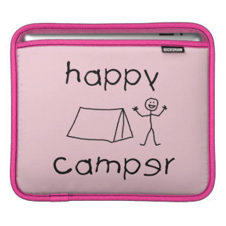 Happy Camper (blk) iPad Sleeve