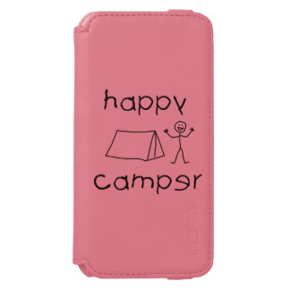 Happy Camper (blk) iPhone 6/6s Wallet Case