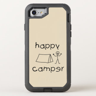 Happy Camper (blk) OtterBox Defender iPhone 8/7 Case