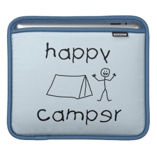 Happy Camper (blk) Sleeve For iPads