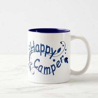 Happy Camper Blue Mugs