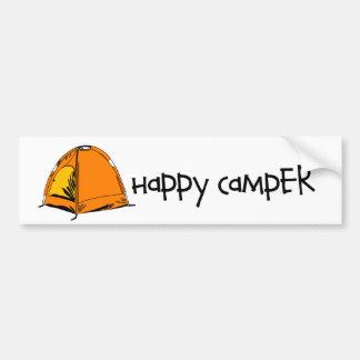 Happy Camper Car Bumper Sticker