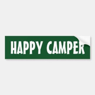 HAPPY CAMPER bumper sticker for car RV or trailer Car Bumper Sticker