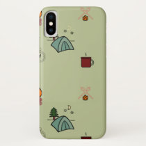 Happy Camper, camping design iPhone X Case