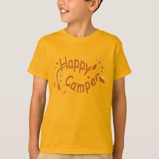Happy Camper Camping Kids Orange T-shirt