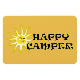 Happy Camper Camping Sunshine Lg Magnet